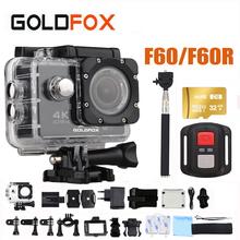 GOLDFOX F60/F60R 4K WIFI Action Camera Ultra HD 1080P Sports Camera Go Waterproof pro DV Camcorder 16MP 170 Degree Wide Angle