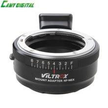 Viltrox NF-NEX Lens Adapter w/ Tripod Mount Aperture Ring For Nikon F AF-S AI G Lens to Sony E NEX Digicam A7 A7R NEX 7 6 5 Three