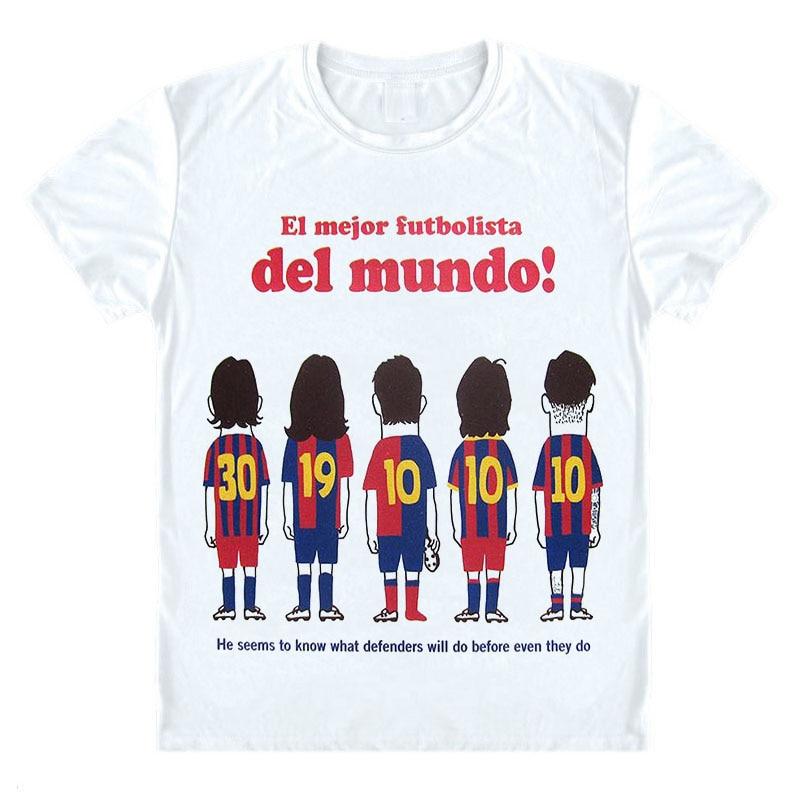 Lionel Messi póló EL Mejor futbolista del mundo póló Személyre szabott egyedi tervezés Spanyolország Camp Nou Club ing Egyedi póló