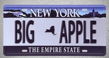 1 pc New York Big Apple Empire state US Car license  plaques Tin Plates Signs wall man cave Decoration Metal Art Vintage Poster