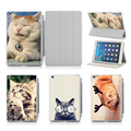 Lovely Cat PU Leather Flip Case For Apple iPad Air 2 For iPad 2 3 4 5 6 Mini 1 2 3 4 Case Stand Cover Case Free Shipping