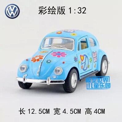 1 Pc Jouets De Modèle De Voiture 1 32 Volkswagen Beetle Voiture