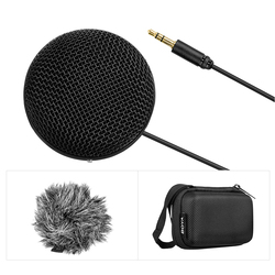 BOYA BY-MM2 Mini DSLR Camera Microfone Stereo Microphone Microfono Mic with Windscreen for Smartphone PC Tablet