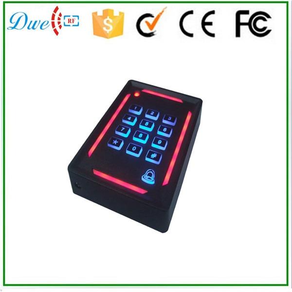 DWE CC RF mini password rfid reader 13.56mhz Wiegand 26 access control system dwe cc rf rfid card reader metal case waterproof ip68 125khz emid or 13 56mhz mf wiegand 26 for access control system 002o