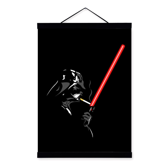 Star Wars Darth Vader Lightsabers Abstract A4 Large Wall Canvas Painting Kids Gift PP076