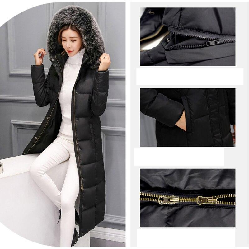 Fourrure Nouvelle Jacket0345 Black Couleur Haute Col Femelle D'hiver Grey Le Vers Épaississement 2018 À Chaud Bas Mode Solide De Femmes light Long Qualité Capuchon Veste 80XnkZwNOP