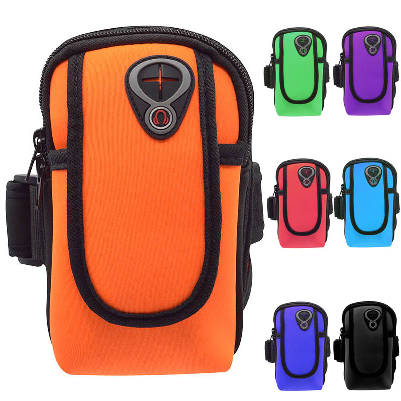 Universal Arm Wrist Band Running Bag Sport Mobile Phone Case Waterproof Wallet Pouch For Huawei Samsung IPhone Sports Arm Bags