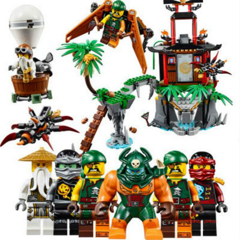 Bela 10461 Ninjago Tiger Widow Island Spinjitzu Nya/Cole/Sensei Wu Building Blocks Bricks Toy Compatible with Legoe 70604 2018 hot ninjago building blocks toys compatible legoingly ninja master wu nya mini bricks figures for kids gifts free shipping