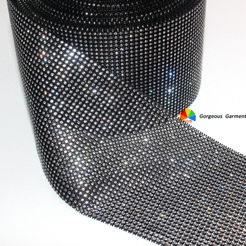 Best buy 10yards 30 lines SS6 2mm Close set Rhinestone Mesh Trim Crystal  Ribbon Banding in Black Plastic DIY Costume Apparel Furniture online cheap bebccb64d742
