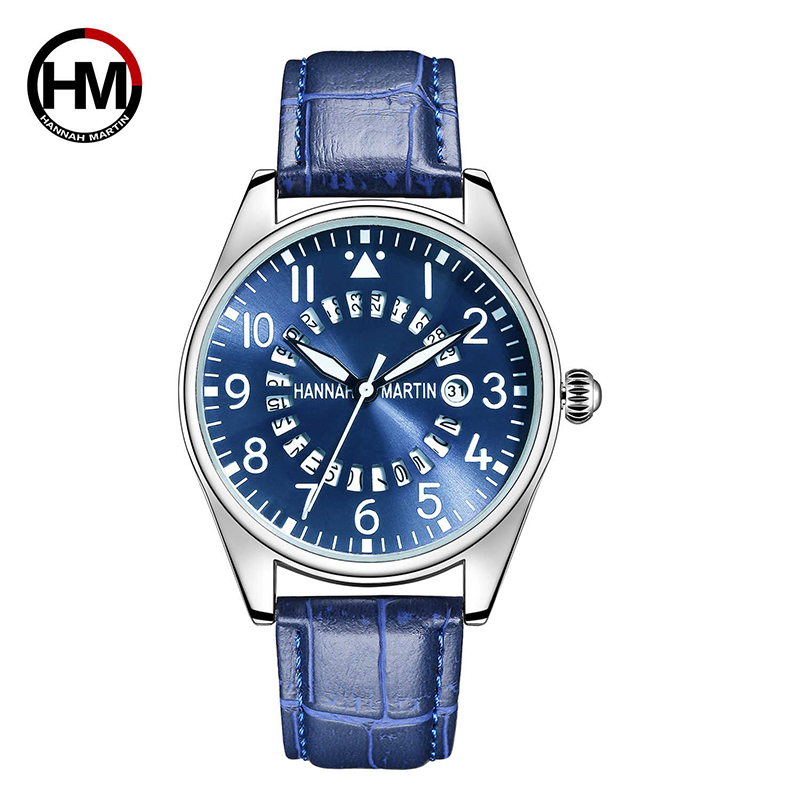 HM Fashion Top Brand Sport Watch Quartz Leather Analog Wristwatch Date Waterproof Luxury Dress Relojes Para Hombre Gift For Man
