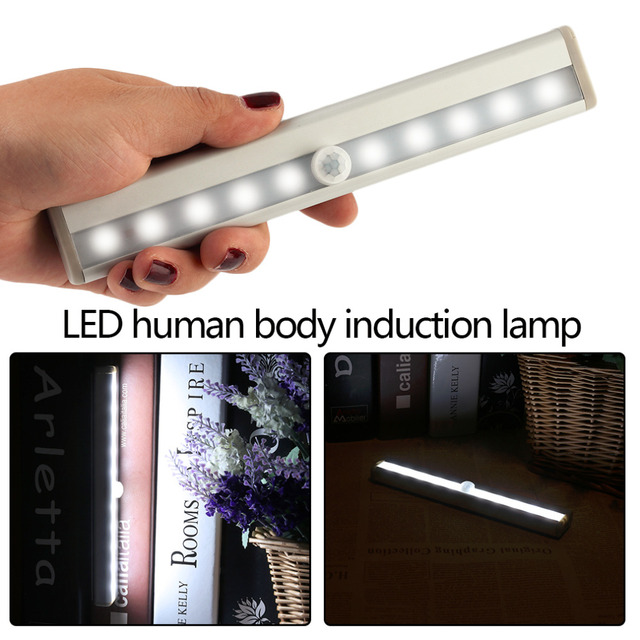 Wireless Motion Sensor LED Cabinet Closet Light Infrared Induction Stick On  Portable Battery Powered Wall Lamp Part 44