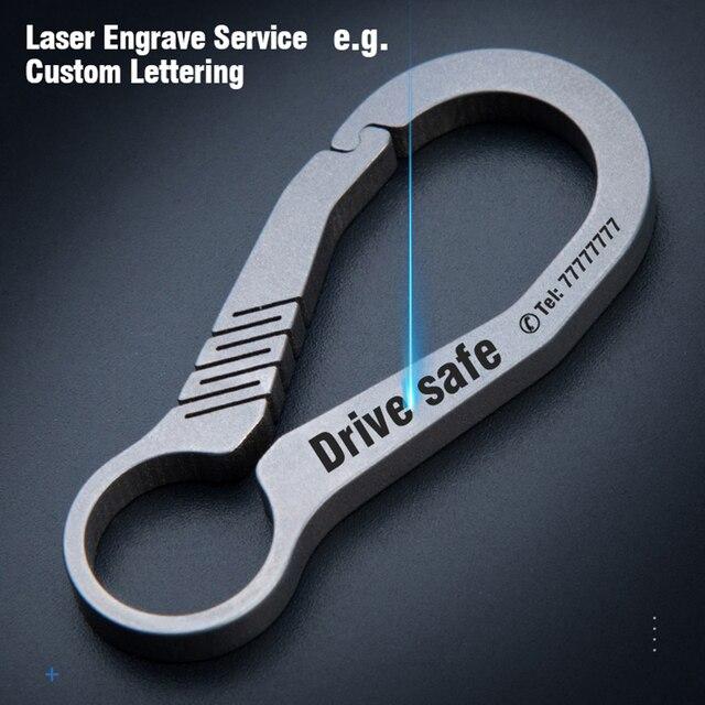 CQ высококачественный настоящий титановый брелок для ключей, роскошный мужской брелок на заказ с буквами, ультра легкий EDC для брелоков, держ...