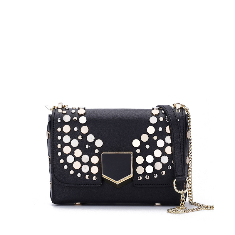 ФОТО 2017 New flap split leather handbags chain vintage women chic lady main new modern brand design messenger bags for female qn083