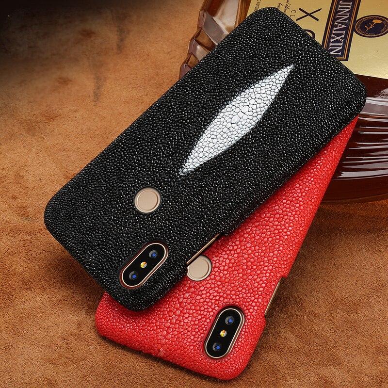 Étui de téléphone pour xiaomi mi 5 s 6 8 9 A1 A2 lite Max 2 3 mi x 2 s perle naturelle peau de poisson couverture pour rouge mi Note 4 4X 4A 5 Plus étui