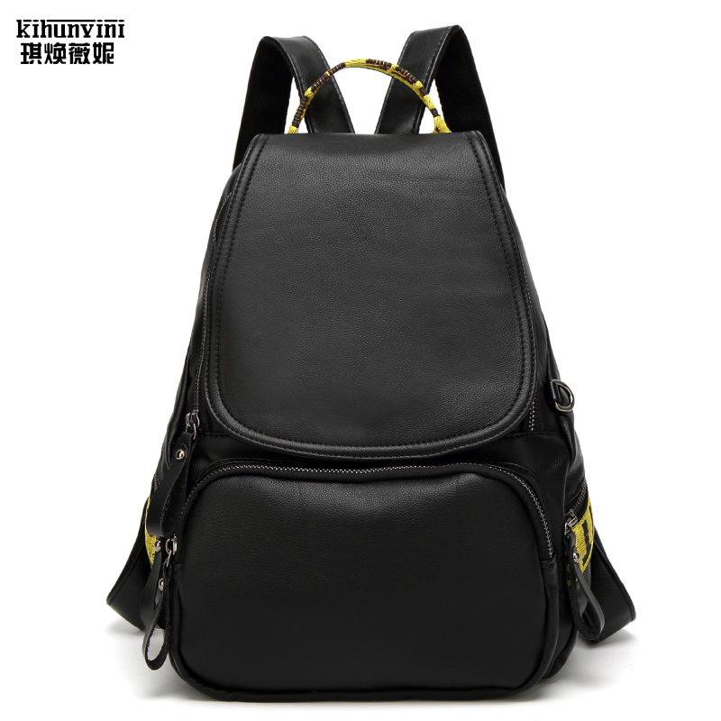 High Quality Fashion Casual PU Leather Women Backpack Bags for Lady Rucksack Teenagers' Schoolbags Laptop Back Pack Korean Style tcttt korean ladies back pack vintage men women casual shoulder bag laptop knapsacks school bags for teenagers tactical backpack