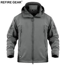 Refire Gear Soft Shell Outdoor Windbreaker Jacket Men Winter Waterproof Hiking Jacket Coat Male Hoody Windproof Fleece Jacket недорого