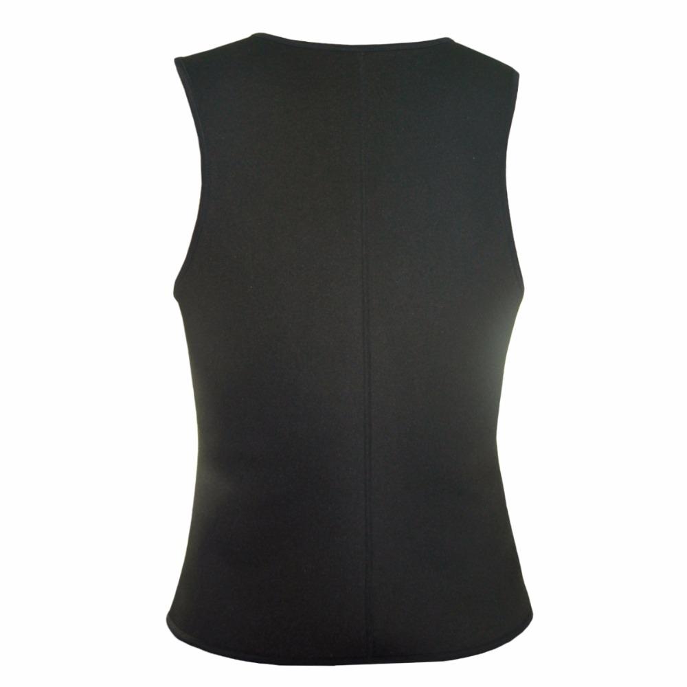 Men Latex Ultra Sweat Hot Waist Trainer Body Shaper Slimming Fit Vest Neoprene Front Zipper Fat Borning Control Top Shapewear (1)