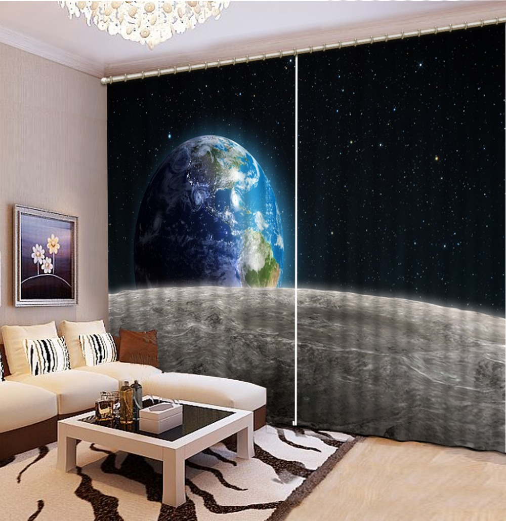 3d Curtains For Living Room Window Treatments Modern Curtains For Beding Room High-precision Shade sky star