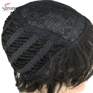 Image 3 - StrongBeauty Synthetic Wig Short Curly Hair Black/White Wigs Womens