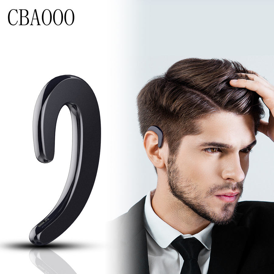 CBAOOO Hands-free Wireless Bluetooth Earphone Ear-hook Headset No earplugs Headphones with Microphone Earphone Case for Phone airersi k6 business bluetooth headset smart car call wireless earphone with microphone hands free and headphones storage box
