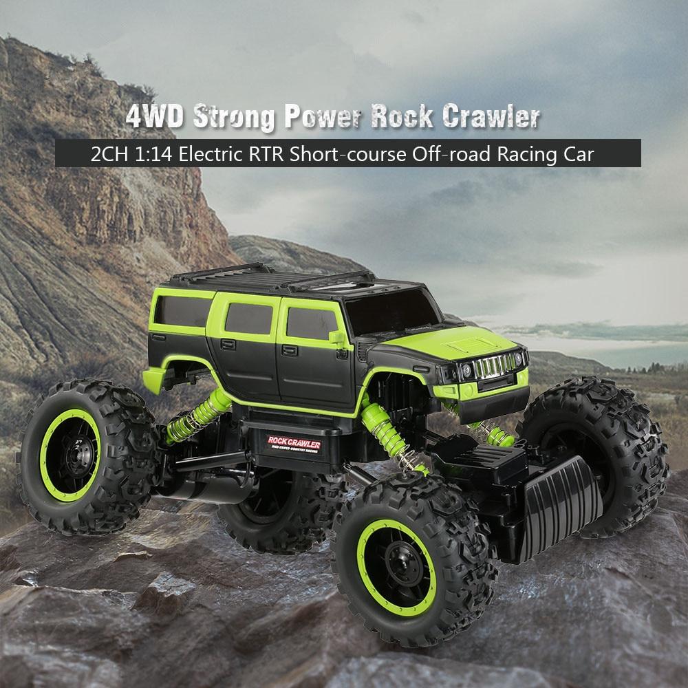 2017 1:14 full scale 2.4G 4 wheel drive Double motor kids big foot sports remote control vehicle  rock crawler toy vs 3615bk aurora double drive 1500