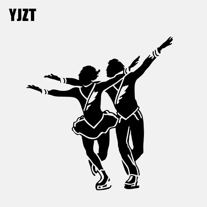Exterior Accessories Good Yjzt 12.4*13cm Sports Dance Figure Skating Decor Car Sticker Vinyl Personalized High Quality Accessories C12-1478 Attractive And Durable