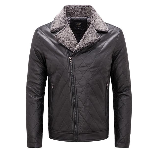 Men's PU Leather Jacket 2018 Winter Velvet t Jacket Men Slim Fit Leather Stand Collar Men Jackets Coats plus size 3XL