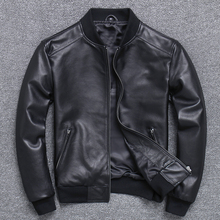 Натуральная кожаная одежда мужская Тонкая овчина пальто