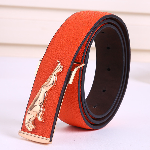 2017 New Fashion PU leather men's belt woman fashion luxury brand designer belts for male Top quality strap female free shipping