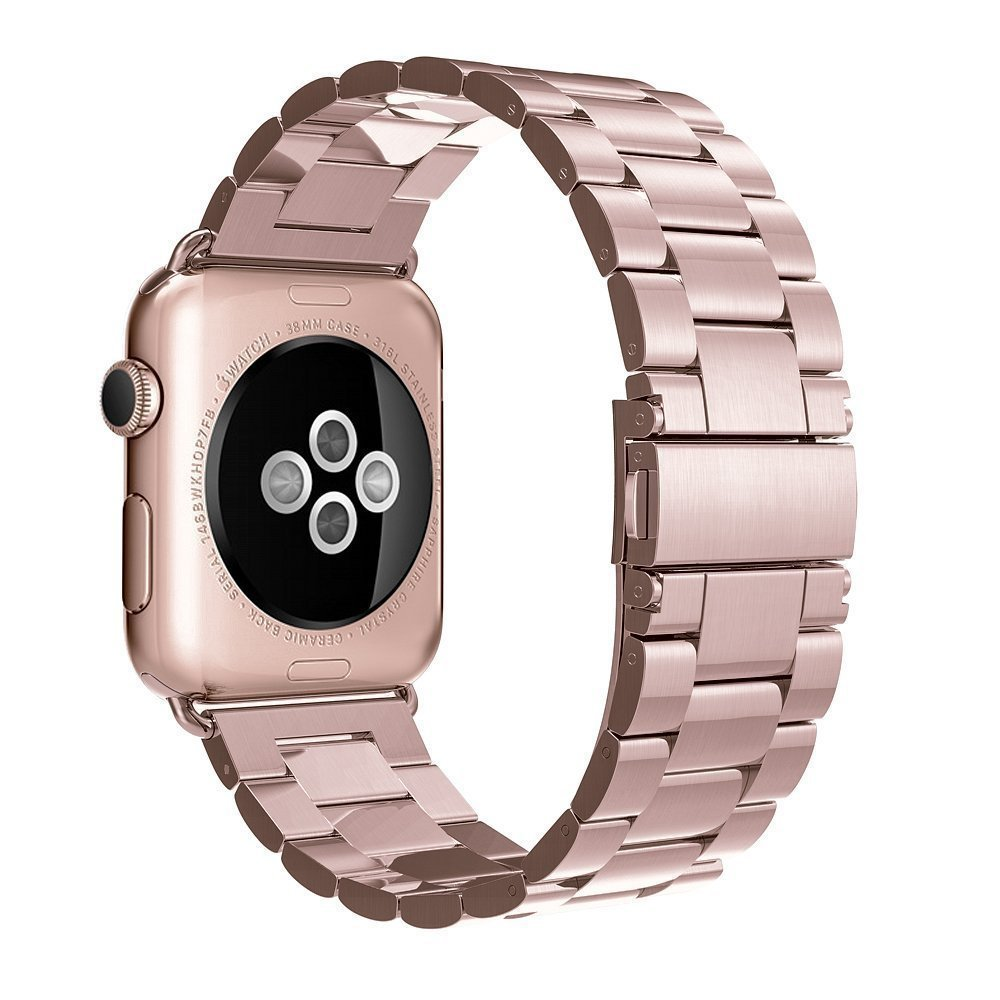 Stainless Steel Strap Band Butterfly Clasp for Apple Watch /Sport/ Edition Series 1/Series 2 38mm 42mm Wristband Replacement wristband silicone bands for apple watch 42mm sport strap replacement for iwatch band 38mm classic stainless steel buckle clock