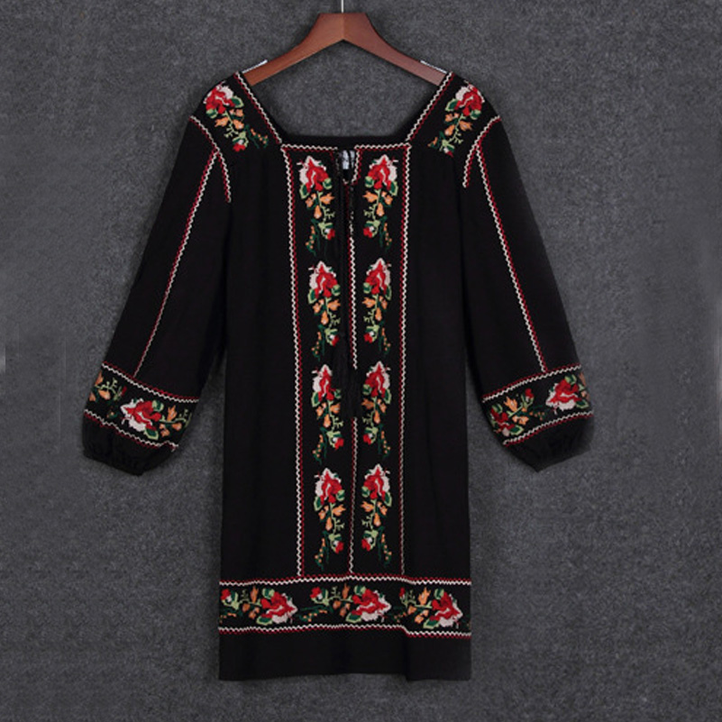Luxury Mexican Dress  Womens  Handmade  Embroidered  Mexico  Dress