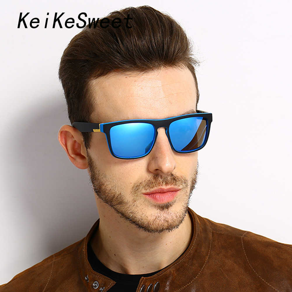 4482c04d13 KeiKeSweet Top Polarized Men Square Cool Driving Rays UV400 Sunglasses  Brand Designer Sports Outdoor Hot Sexy