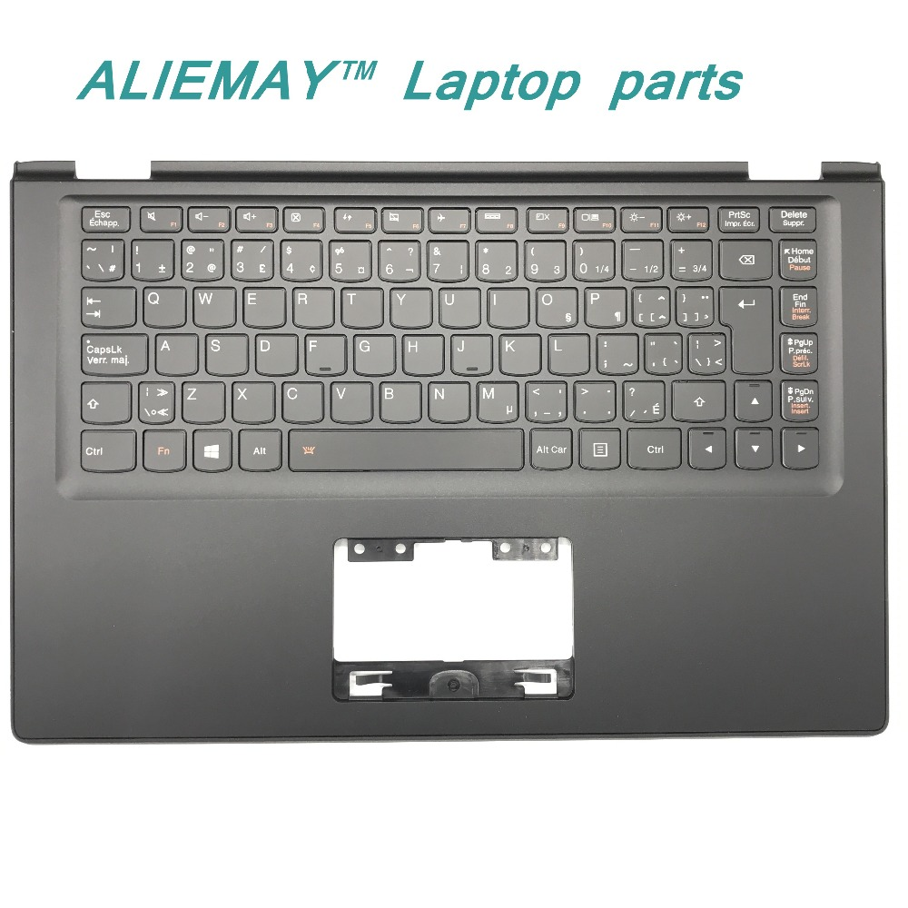 Laptop parts for LENOVO YOGA 2 13 Yoga2-13  BLACK Palmrest  with Backlit CFA EN Keyboard 90205178 laptop parts for lenovo yoga 2 13 yoga2 13 black palmrest with backlit sweden sw1 keyboard 90205189
