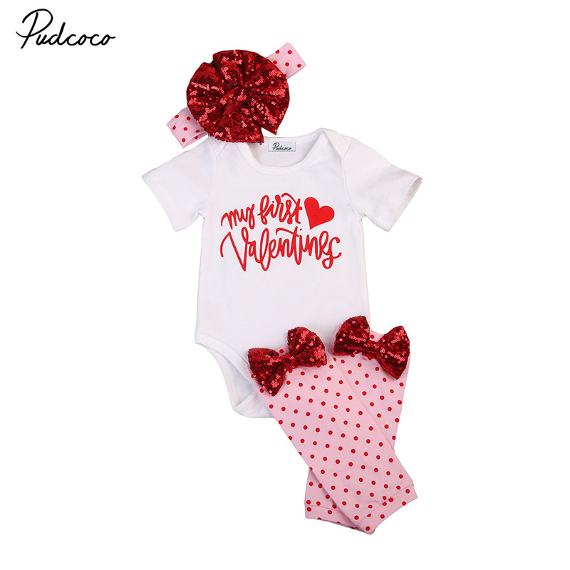 Hot sell Infant Baby Girls Clothes Short Sleeve Long Sleeves Tops+Leggings Pants +Headband 3pcs Outfits Baby Clothing Set