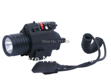 High Quality 2-In-1 Hunting light CREE Q5 tactical LED Flashlight & Red Laser Sight