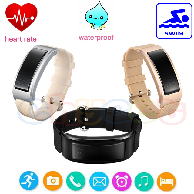 DF23 Bluetooth4.0 Fit Bit Smart Wrist Band Inteligente Bracelet with Heart Rate Monitor Swimming Tracker PK Mi Miband 2 D21 H3
