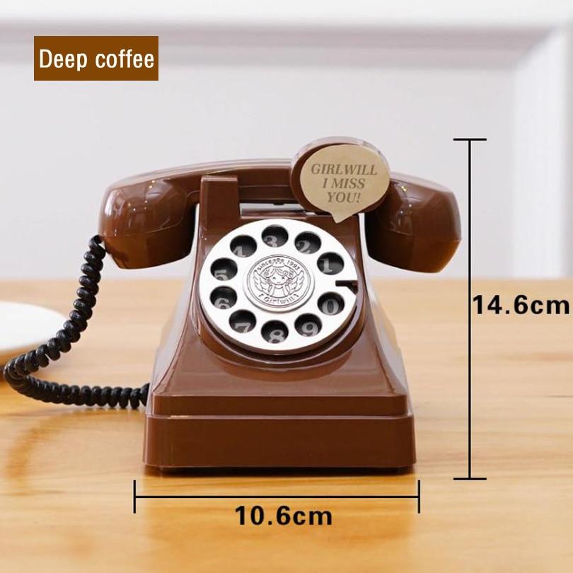 Купить с кэшбэком Original RetroTelephone Money Box Old Fashion Telphone Secret Safe Box Kids Gift Vintage Toys For Coin Saving Plastic Piggy Bank