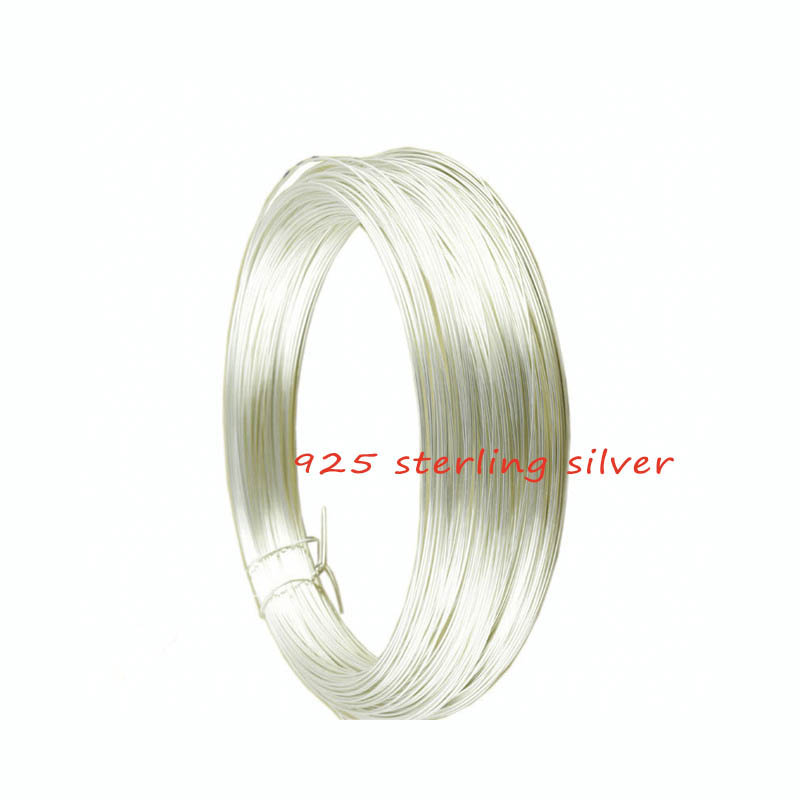 0 3mm 0 4mm 0 5mm Dia 1meter bag Solid 925 Sterling Silver Wire Beading Stringing Jewelry Thread Filament Connector Accessories in Jewelry Findings Components from Jewelry Accessories