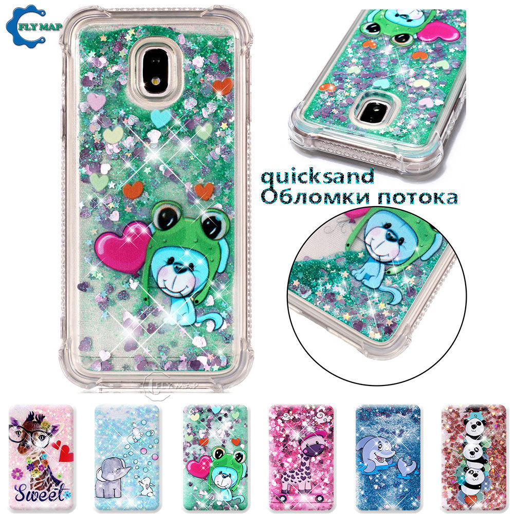 Cellphones & Telecommunications Beautiful Case For Samsung Galaxy J3 J 3 2017 Sm-j330f/ds Sm-j330fn Sm J330 J330f J330fn Glitter Stars Dynamic Liquid Quicksand Tpu Case Lustrous Fitted Cases