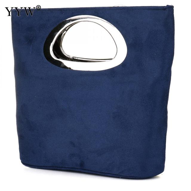New  evening Clutches Bag womens Blue clutch purse fashion Handbags Folding Bucket Bag  totes wedding Casual torebki damskie