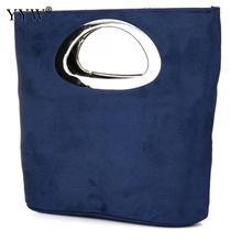 Nowe wieczorowe kopertówki damskie niebieskie torebka z uchwytem modne torebki składane wiadro torby totes ślubne Casual torebki damskie
