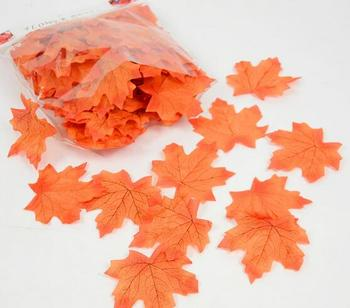New 100Pcs Artificial Cloth Maple Leaves Multicolor Autumn Fall Leaf For Art Scrapbooking Wedding Bedroom Wall Party Decor Craft