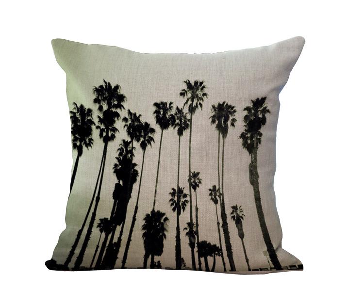 Awesome Cotton Hemp Hawaiian Coconut Tree Cotton Linen Cushion Ncnpc Chair Design For Home Ncnpcorg