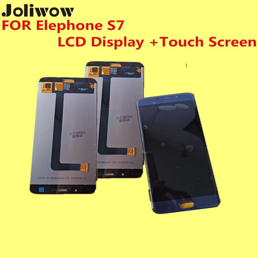Original PARA Elephone S7 LCD Display + Touch Screen + Frame + Asamblea CaseDigi