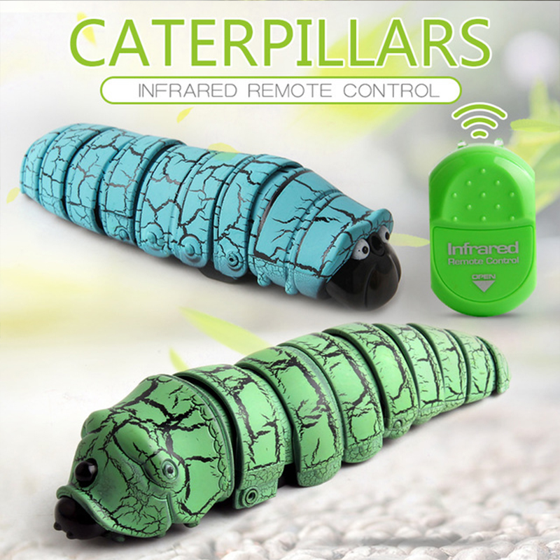 Electric Remote Control Toy Funny Analog Infrared Remote Control Insect Toy Electric Prank Caterpillar Scary Toy Birthday Gift