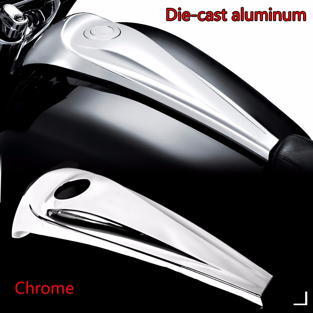 Die-cast Aluminum Chrome Smooth Dash Console Cover For Harley 2008-2018 Touring Electra Street Road Glide FLH/T FLHX Models wisengear motorcycle parts beveled black dash insert deep cut cover for harley street road glide flhx fltrx 2008 2017 c 5