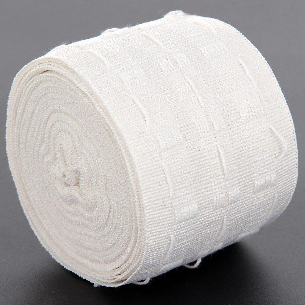Tirar plisado cinta 12 metros de la cortina a ojal superior cinta Header lápiz plisado cinta de gancho cortina accesorios (3 pulgadas) D2
