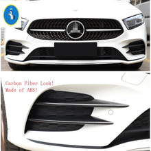 Yimaautotrims Auto Accessory Front Fog Lights Lamp Eyelid Eyebrow Cover Fit For Mercedes Benz A Class W177 A200 A220 2019 2020 yimaautotrims auto accessory front fog lights lamp eyelid eyebrow cover trim for mercedes benz c class w205 sedan 2015 2018