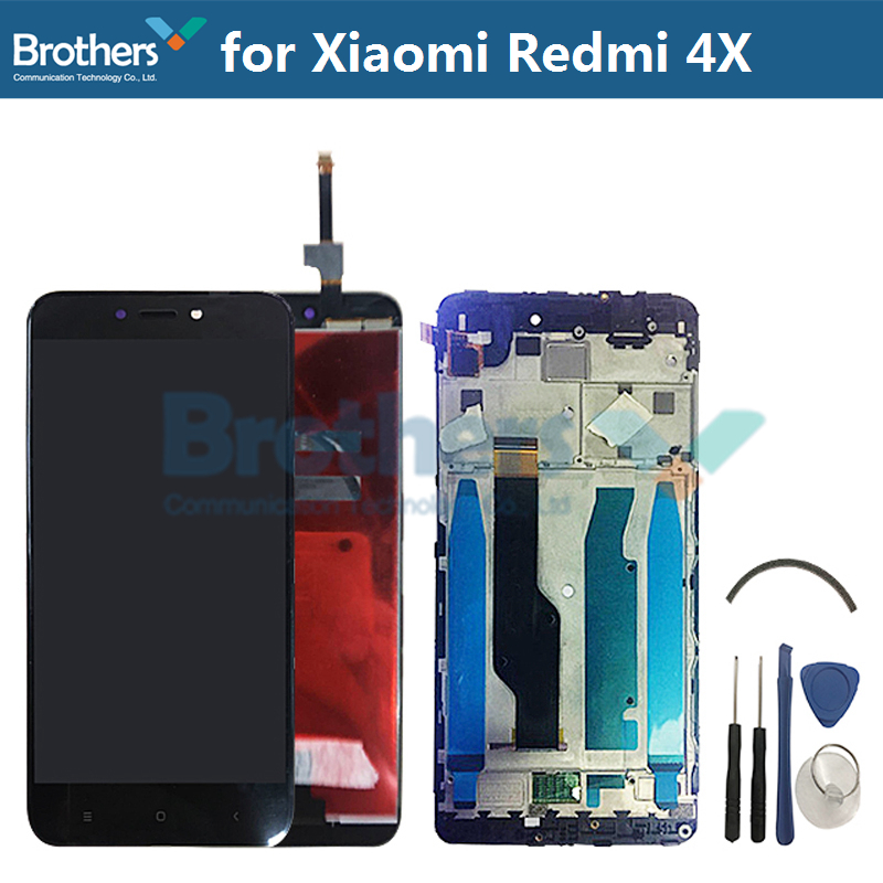 For Xiaomi Redmi 4X LCD Display With Frame Touch Screen Digitizer Assembly Redmi 4X LCD Screen Replacement Redmi 4X Touch screenFor Xiaomi Redmi 4X LCD Display With Frame Touch Screen Digitizer Assembly Redmi 4X LCD Screen Replacement Redmi 4X Touch screen