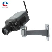 Hot Sale Safely Dummy Fake LED Flashing Security Camera CCTV Surveillance Imitation Surveillance Camera Sliver